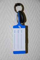 Внешний вид ластиковой бирки для ключей, Стандартный дизайн.