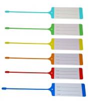 Пластиковая бирки для ключей, Базовый дизайн в ассортименте цветов.