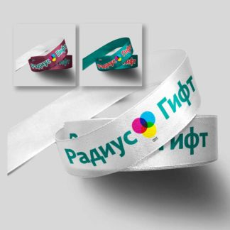 Лента атласная с полноцветной сублимационной печатью.